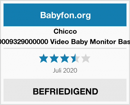 Chicco 00009329000000 Video Baby Monitor Basic Test