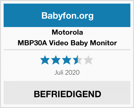 Motorola MBP30A Video Baby Monitor Test