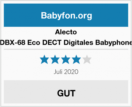 Alecto DBX-68 Eco DECT Digitales Babyphone Test