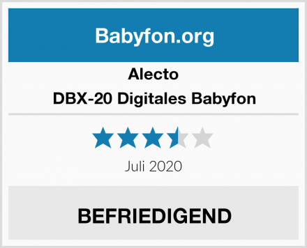 Alecto DBX-20 Digitales Babyfon Test