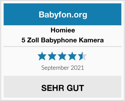Homiee 5 Zoll Babyphone Kamera Test