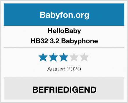 HelloBaby HB32 3.2 Babyphone Test