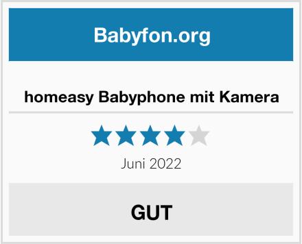 homeasy Babyphone mit Kamera Test